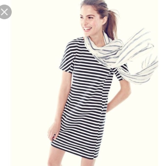 b8d8abfab00 J. Crew Dresses   Skirts - J. Crew striped t shirt dress in black
